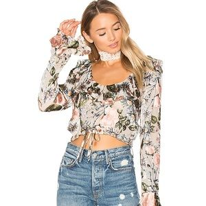 🍋 For Love & Lemons Luciana Floral Crop Top